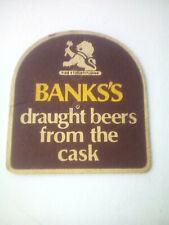 Vintage BANKS'S  /  DRAUGHT BEERS  Cat'No'189 Beermat / Coaster