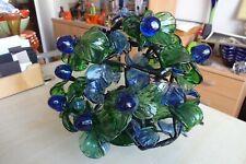 Vintage German Handmade Glass Tree Table Ornament Sculpture Home Decor  Rare!