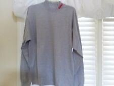 GRAY RAPALA MOCK NECK T-SHIRT LONG SLEEVES LARGE