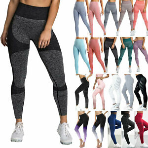Ladies High Waist Gym Leggings Casual Fitness Sports Running Seamless Yoga Pants