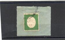 B ANTICHI STATI-SARDEGNA-1854- TERZA EMISSIONE-IL FALSO  5C. USATO SU FRAMMENTO