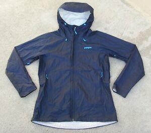 Patagonia h2no Lightweight Rain Jacket Women's Size M Dark blue