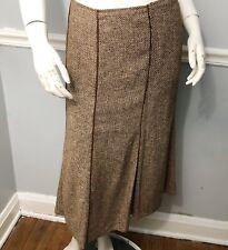 Lafayette 148 Women's Brown Tweed Gored Skirt Size 16