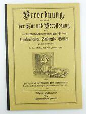 #e5740 Altes Buch: Berliner Handpresse Nr. 31 Verordnung der Kur & Verpflegung..