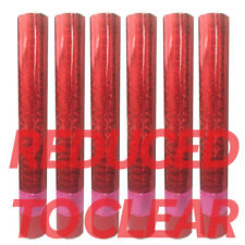 x6 Red Foil Confetti Cannons Compressed Air Party Shooter Wedding Poppers 30cm L