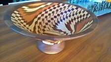 "Unique Handcrafted Turned Segmented Wood ""Dizzy Bowl""  one of the Kind"