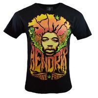 JIMI HENDRIX Mens Tee T Shirt Rock Music Stone Free Vintage S M Black NEW