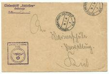 Brief DEUTSCHE KRIEGSMARINE SCHIFFSPOST Nr.4 Linienschiff Schlesien 1938