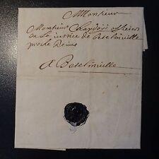 1694 LETTRE COVER DE RAMPON PROCHE DE VERDUN POUR UN OFFICIER MILICE DE REIMS