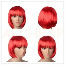 Perruque Coupe Carre ROUGE Synthetique ideal deguisement NEUVE Port 0€