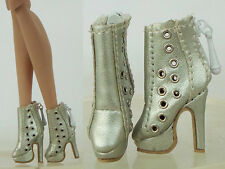 Doll Silver Shoes Boots for Fashion Royalty FR2 Poppy Parker, DG, Momoko 13-FR-4