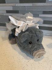 Retired Wild Republic Bride Gray Boar Pig Stuffed Plush Toy K & M International