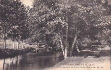ORSAY 6716 petit chemin au bord de la rivière écrite