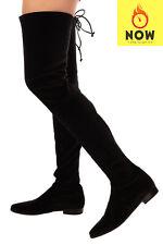 RRP €920 STUART WEITZMAN Velour Over Knee Boots EU 40 UK 7 US 9.5 Sock Like