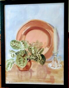Blanche lazzell Watercolor American Modernist Provincetown Mass Important C.1930