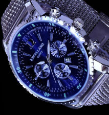 Excellanc Herren Mesh Armband Uhr Blau Datumsanzeige Datum Edelstahl SI-BL4