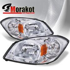 For 05-10 Chevy Cobalt /Pontiac G5 07-09 /Pursuit 05-06 Crystal Headlights Amber