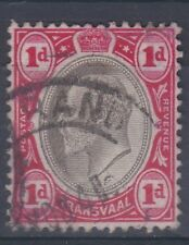 1904-09 EDVII SOUTH AFRICA TRANSVAAL 1d USED WMK MULTI CROWN CA SG261
