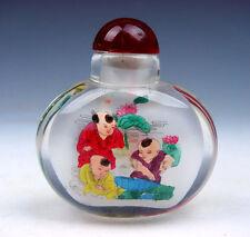 Peking Glass Inside Reverse Hand Painted Kids Playing Snuff Bottle #01021606