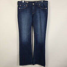 AG Adriano Goldschmied The Angel Boot Cut Dark Wash Womens Jeans Size 32x34