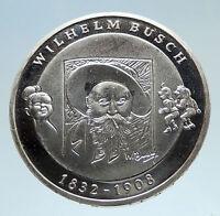 2007 GERMANY Wilhelm Busch Genuine Proof Silver German 10 Euro Coin i75136