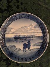 """Bing & Grondahl 1968 """"The Last Umiak"""" Denmark Royal Copenhagen Porcelain"""