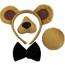 Per bambini 4 pezzi Bear Costume Vestito Orecchie Naso Tail comando Modifica