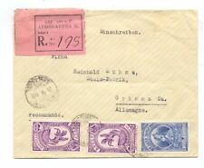 ETHIOPIA 1935 REG. COVER USED 2g + TWO x 4g