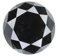 Natural Loose Diamond Black Color Round I3 Clarity 5.80 MM 0.90 Ct N7914