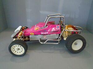 Vintage 1/10 RC Sprint Car RC10 convertion team Associated Gold Pan era