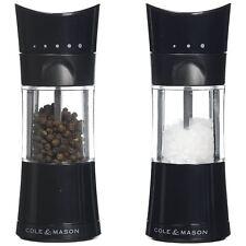 Cole & Mason Harrogate Inverta 15cm Salt & Pepper Mill Gift Set Acrylic Black
