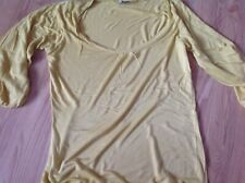 Oasis Ladies mustard top size 12