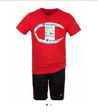 Champion Little Boys 2 Piece Set Size 7 Red/black
