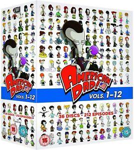 AMERICAN DAD Complete Seasons 1-12 DVD 36 Discs BOXSET New & Sealed