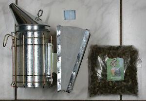 Smoker verzinkt inkl. 500 g Rauchmittel Imker Rauchbläser Bienen Imkerei Raucher
