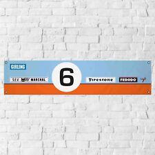 GT40 Banner Garage Workshop PVC Sign Le Mans Track Ford Display
