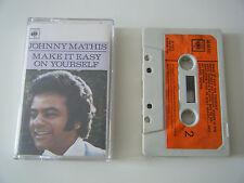 JOHNNY MATHIS MAKE IT EASY ON YOURSELF CASSETTE TAPE 1972 ORANGE LABEL CBS UK