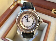 Breguet Marine Hora Mundi, 18K WG, Automatic 38mm 3700bb/12/9v6/-Box/Papers-