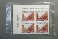*Kengo* Canada stamps #724 set of 4 inscription corner blocks SEALED @193