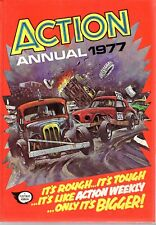 Vintage Action Annual 1977 Adventure Sport War Racing Rough N Tough Carnage Vg