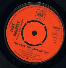 "Tony Bennett(7"" Vinyl)The Very Thought Of You / Sleepy Time Gal-CBS-202-Ex/VG"