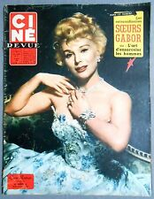 ►CINE REVUE 11/1958-EVA GABOR-LESLIE CARON-FRANK SINATRA-JAYNE MANSFIELD-HESTON