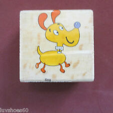 SARAH BEISE Cartoon Dog Wood Mounted Rubber Stamp Canine