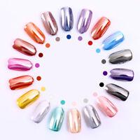 BORN PRETTY Silver Mirror Nail Powder Shiny Chrome Pigment Manicure Glitter Dust