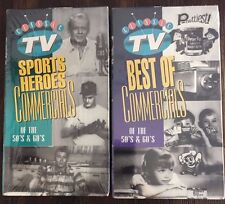2 Classic TV BEST OF COMMERCIALS OF THE 50's & 60's SPORTS HEROES VHS NEW 5050