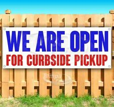 We Are Open For Curbside Pickup Advertising Vinyl Banner Flag Sign Restaurant