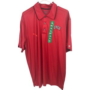Champion UNLV Rebels Polo Shirt Mens Extra Large XL Red Adult Short Sleeve NEW