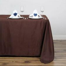 """5 Pk Chocolate 50x120"""" Polyester Rectangle Seamless Tablecloth Wedding Party"""