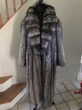 Silver Fox Fur Coat,Size XL