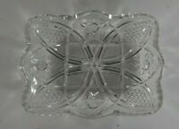 Vintage American Brilliant Cut Glass Crystal Celery / Relish / Candy Dish / Tray